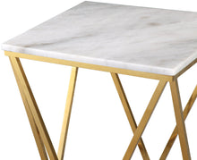 Load image into Gallery viewer, Leopold White Marble Side Table