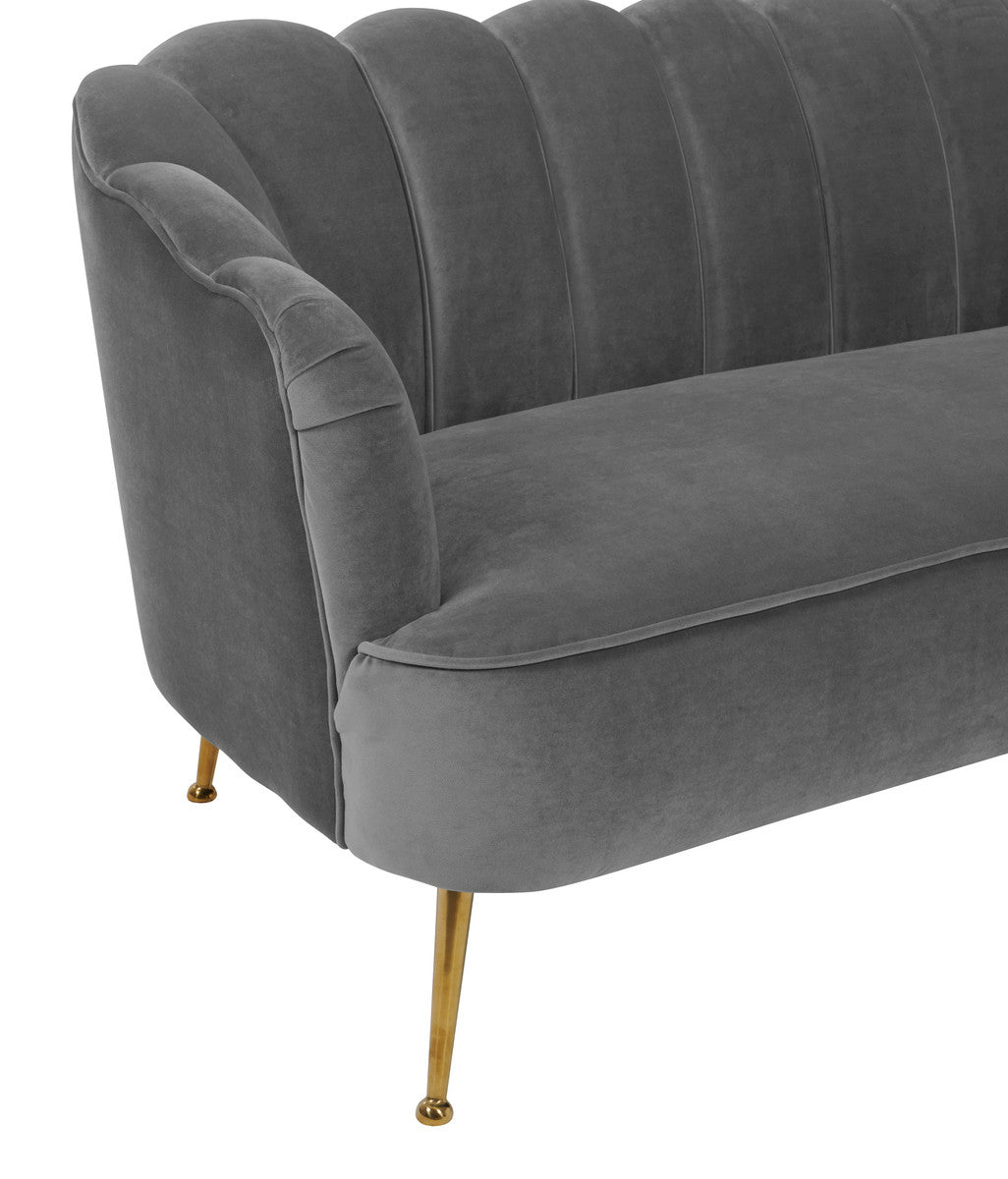 Daisy Grey Velvet Sofa