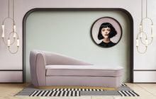 Load image into Gallery viewer, Iren Velvet Chaise Lounge