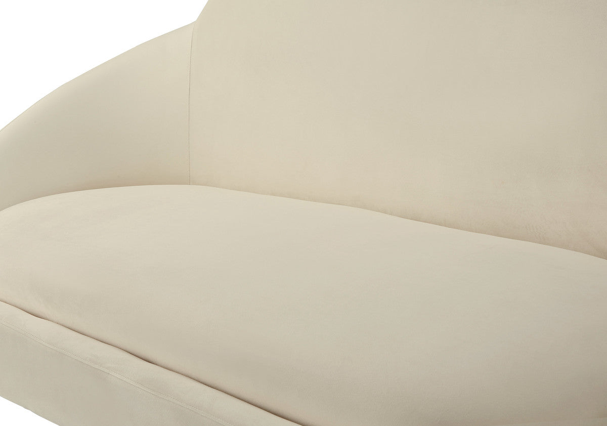 Cloud Cream Velvet Settee