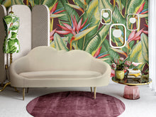 Load image into Gallery viewer, Cloud Cream Velvet Settee