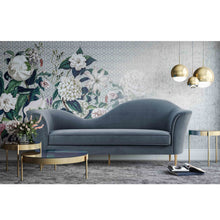 Load image into Gallery viewer, PLATO GREY VELVET SOFA