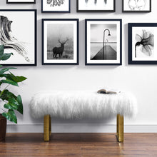Load image into Gallery viewer, Sherpa Sheepskin Bench