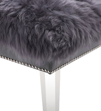 Load image into Gallery viewer, Luxe Sheepskin Lucite Bench