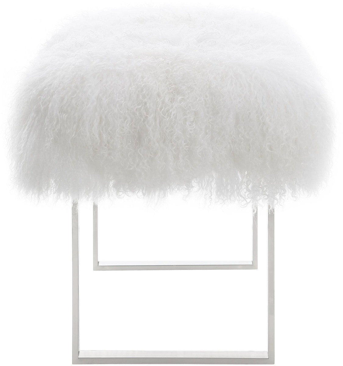 Sherpa Sheepskin Bench