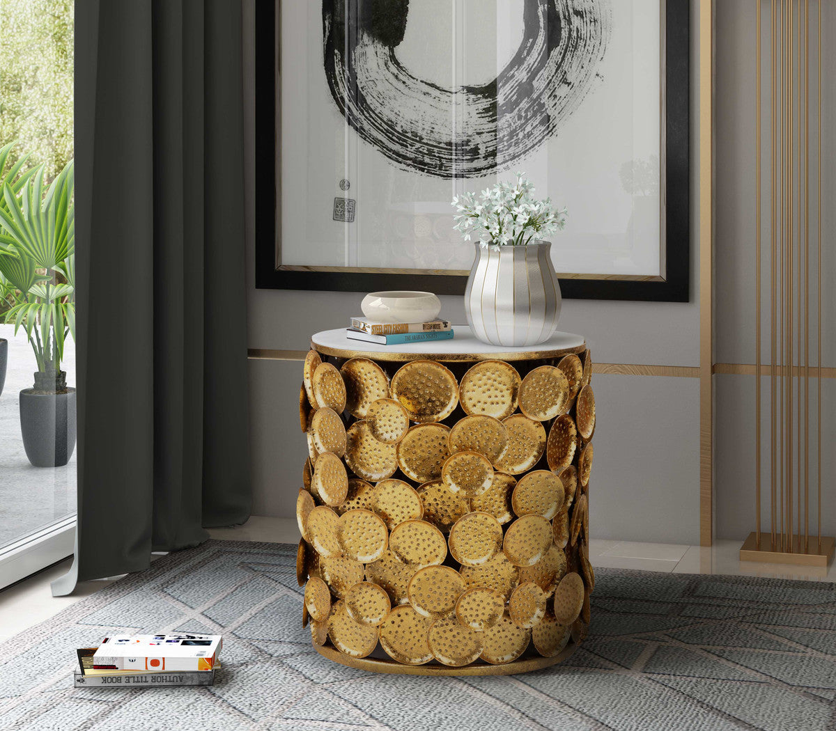 Brie Marble Side Table