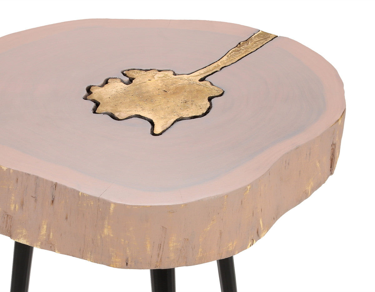 Timber Brass Side Table