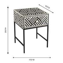 Load image into Gallery viewer, Noire Bone Inlay Side Table