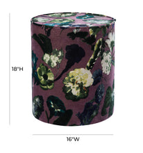 Load image into Gallery viewer, Floral Velvet Pouf