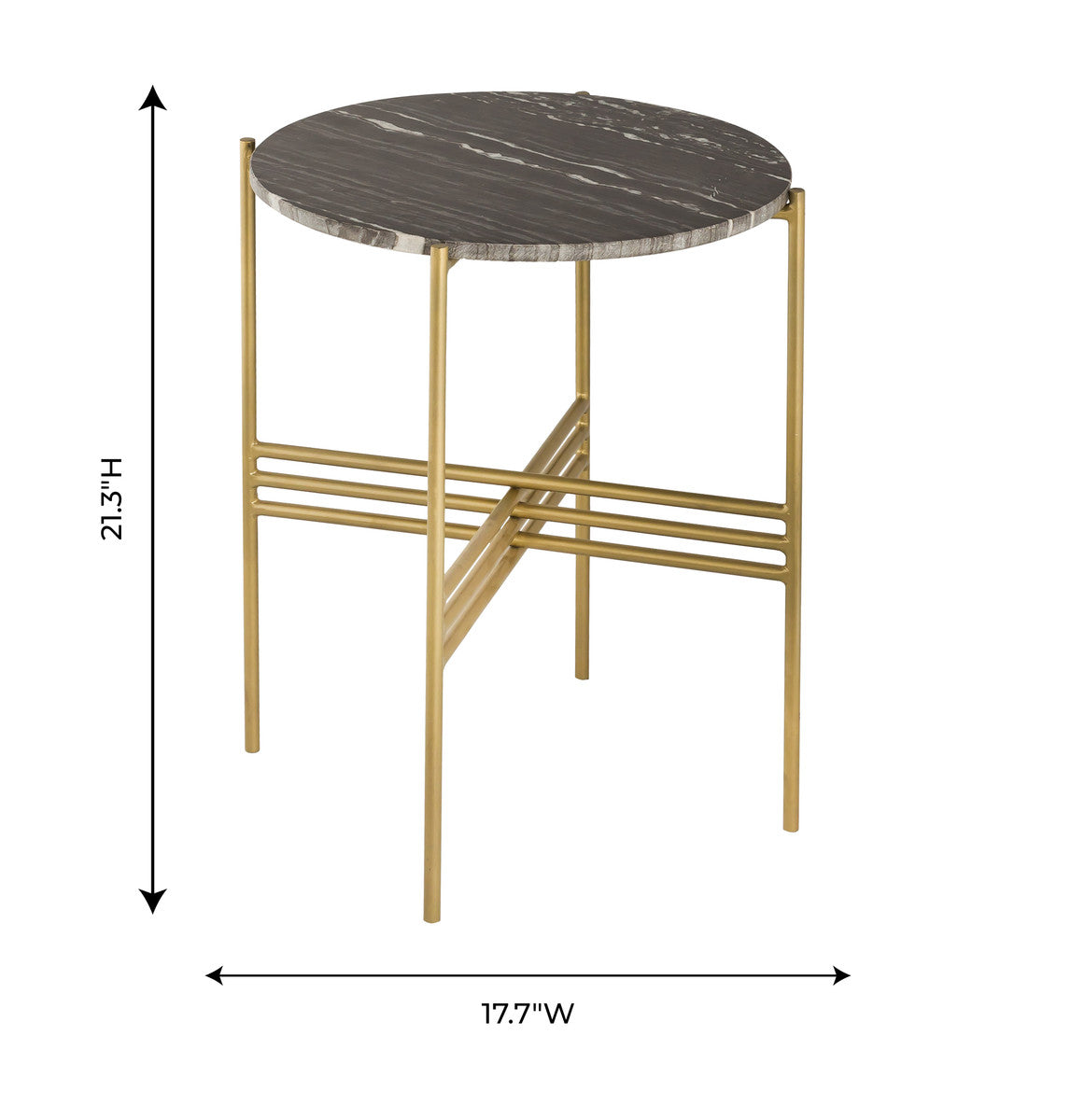 Cress Black Marble Side Table