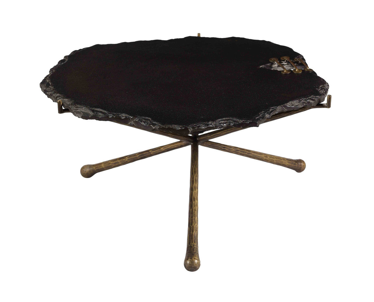 Serra Black Stone Cocktail Table