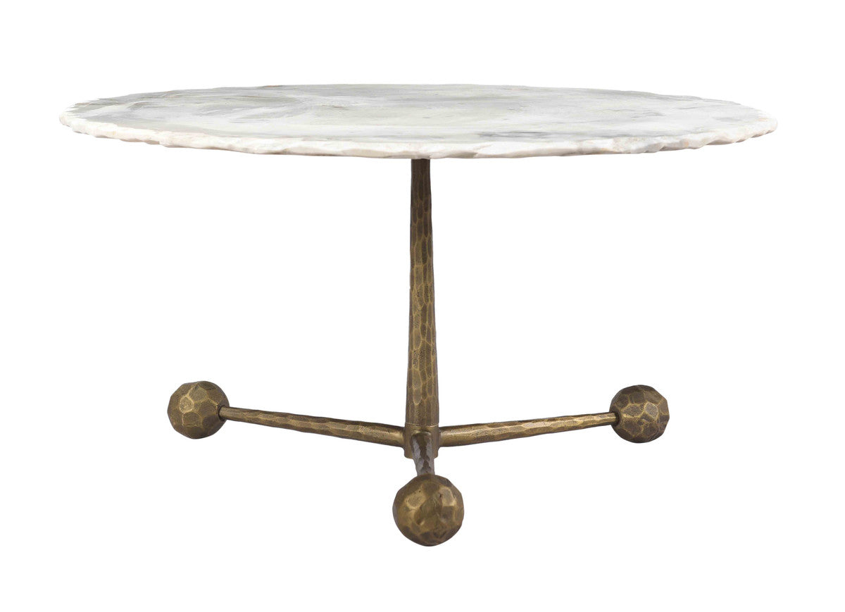 Orbital White Marble Cocktail Table