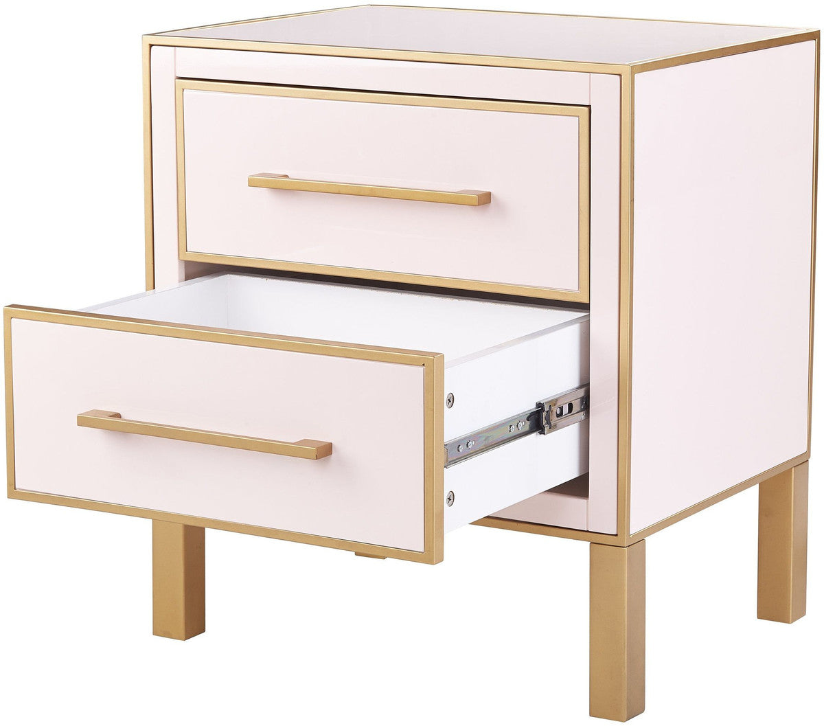 Emily Pink Lacquer Side Table