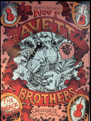 Limited Edition Avett Brothers Concert Poster