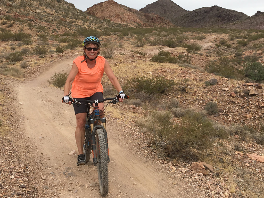 Here is Sharon having fun in Moab