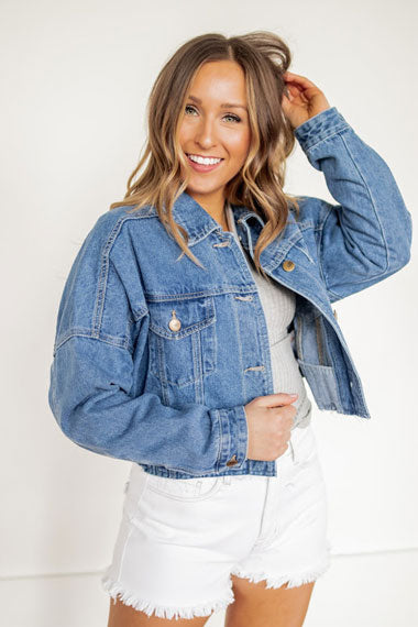 denim jackets work great with date outfits