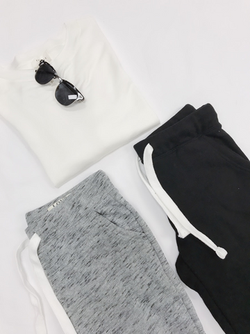 an outfit including joggers