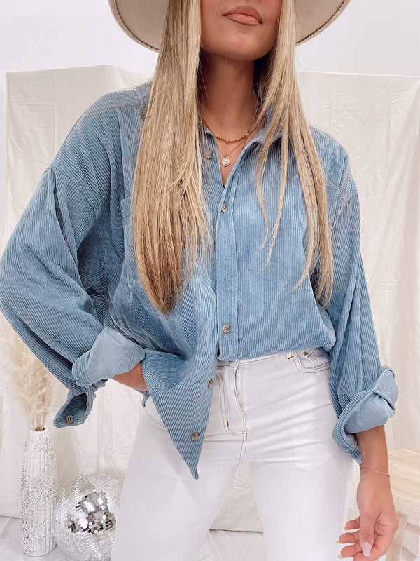 Blue cord button up Wishlist