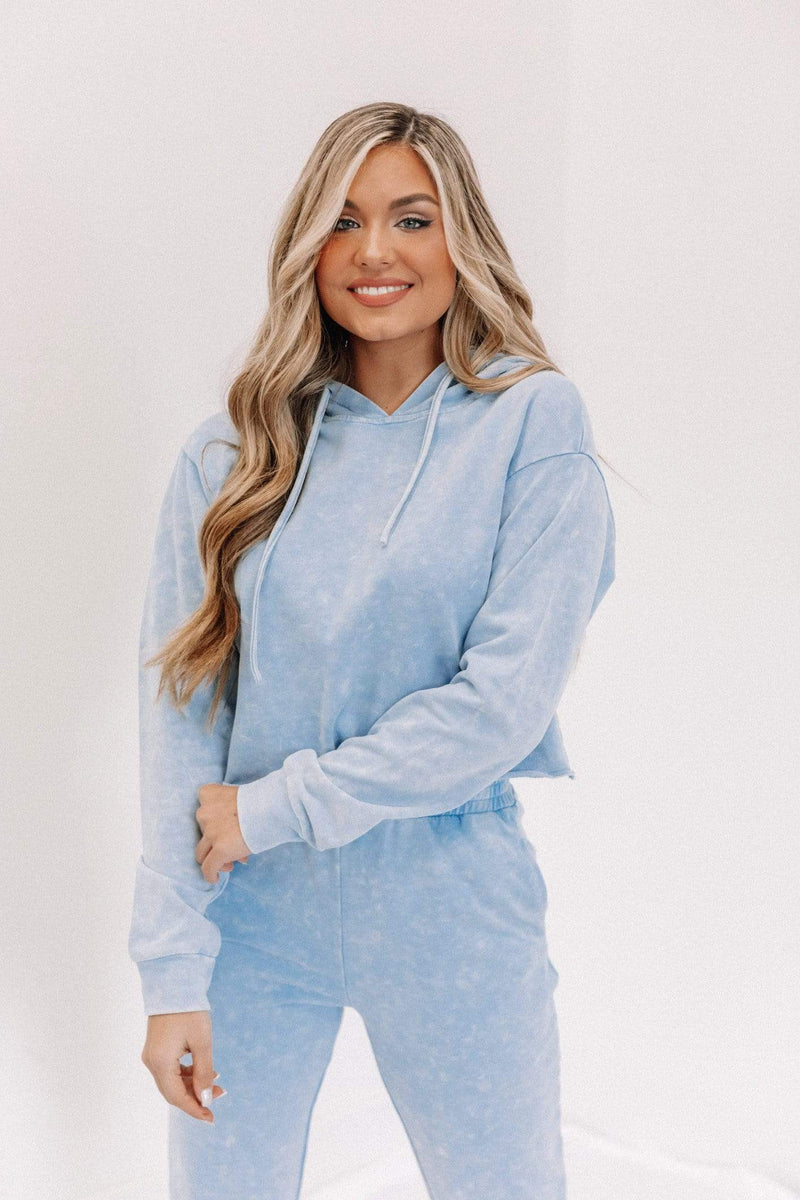 Blue Washed Hoodie Lane 201