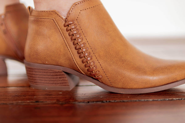 Camel Braided Ankle Bootie Lane 201