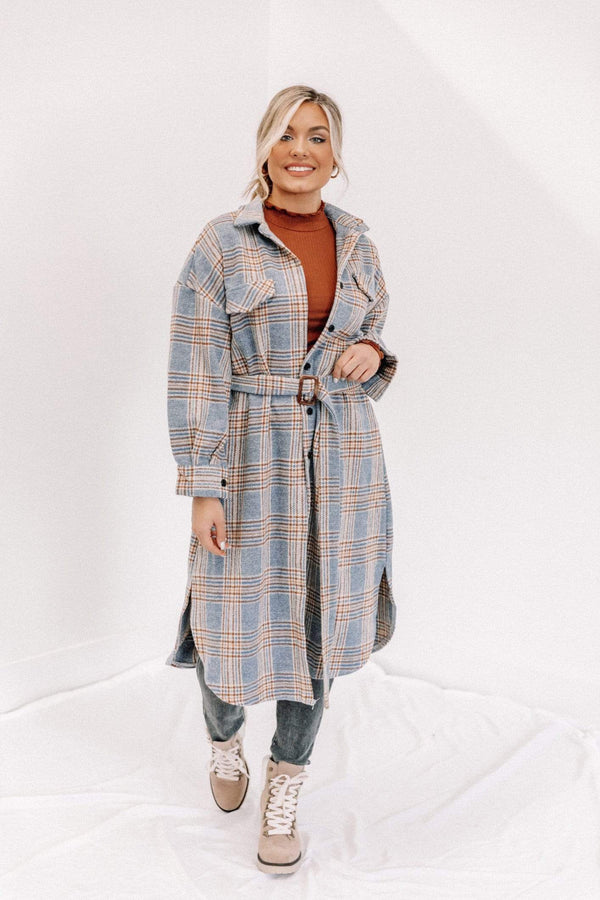 City Lights Plaid Trench Lane 201