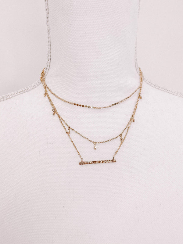 Gold Layered Brady Necklace Lane 201