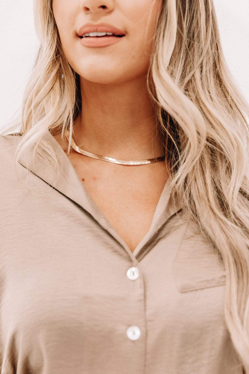 Gold Snake Chain Choker Lane 201