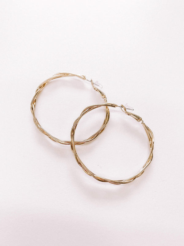 Gold Twisted Hoops Lane 201