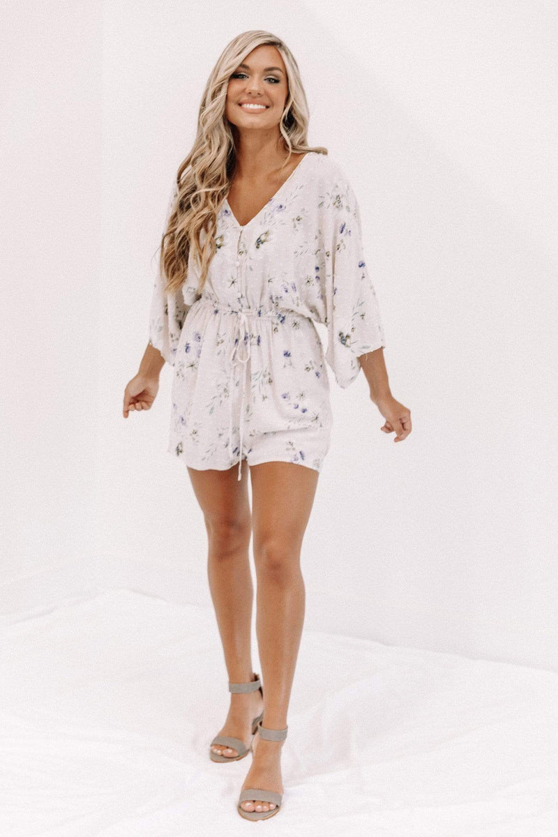 In Love With Summer Floral Romper Lane 201