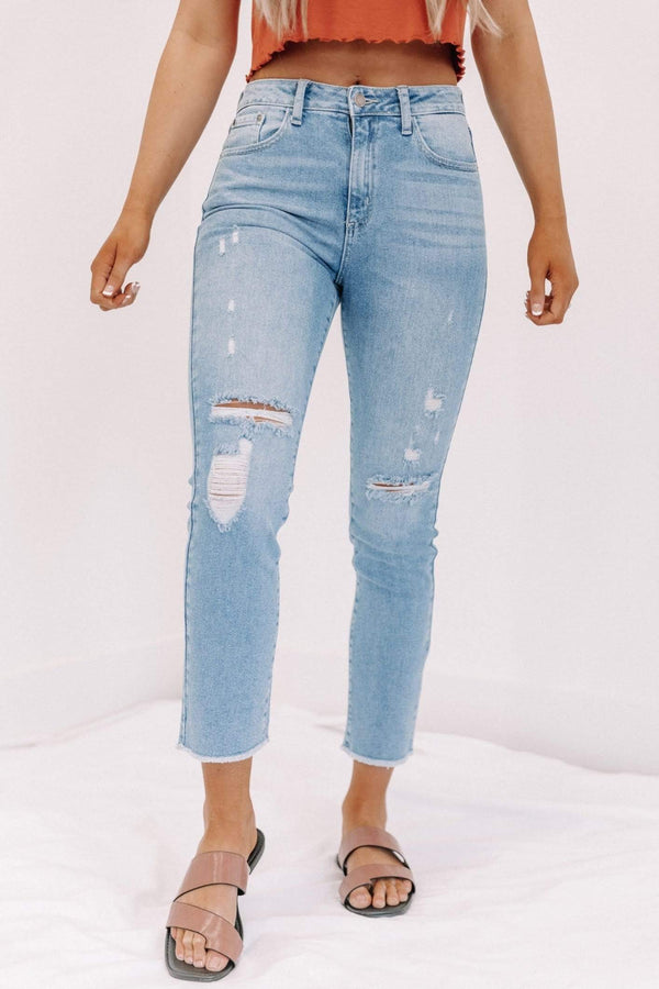 Just USA Distressed Straight Denim Lane 201