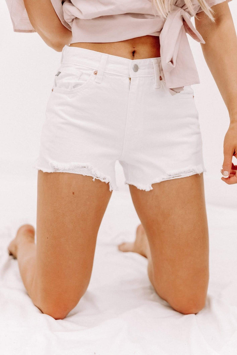 Just USA White Denim Shorts Lane 201