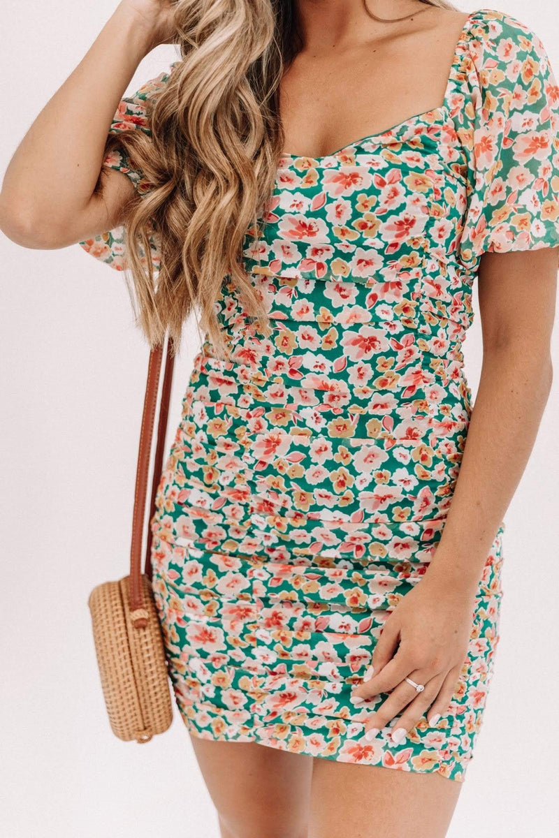 Keep It Short and Sweet Floral Dress Lane 201