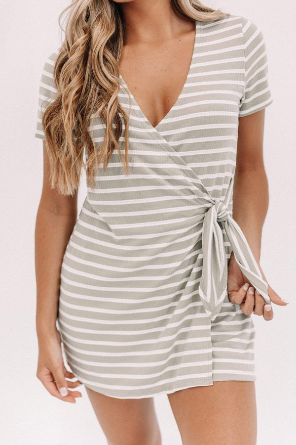 Light Olive Cabana Cutie Romper Lane 201