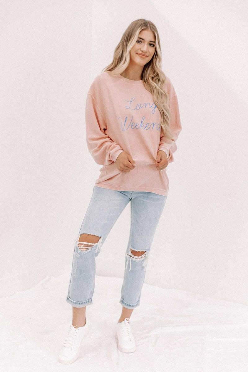 Long Weekend Corded Sweatshirt Lane 201
