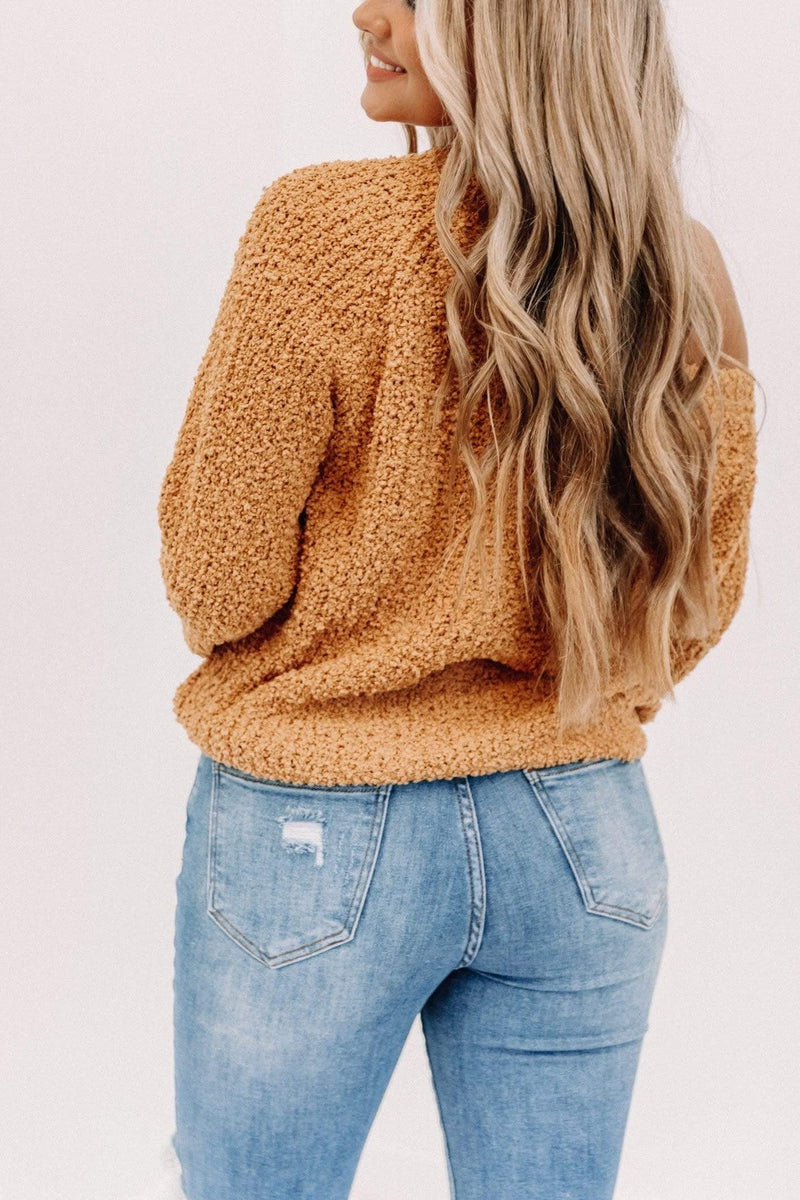 Mustard Ruched Sweater Lane 201