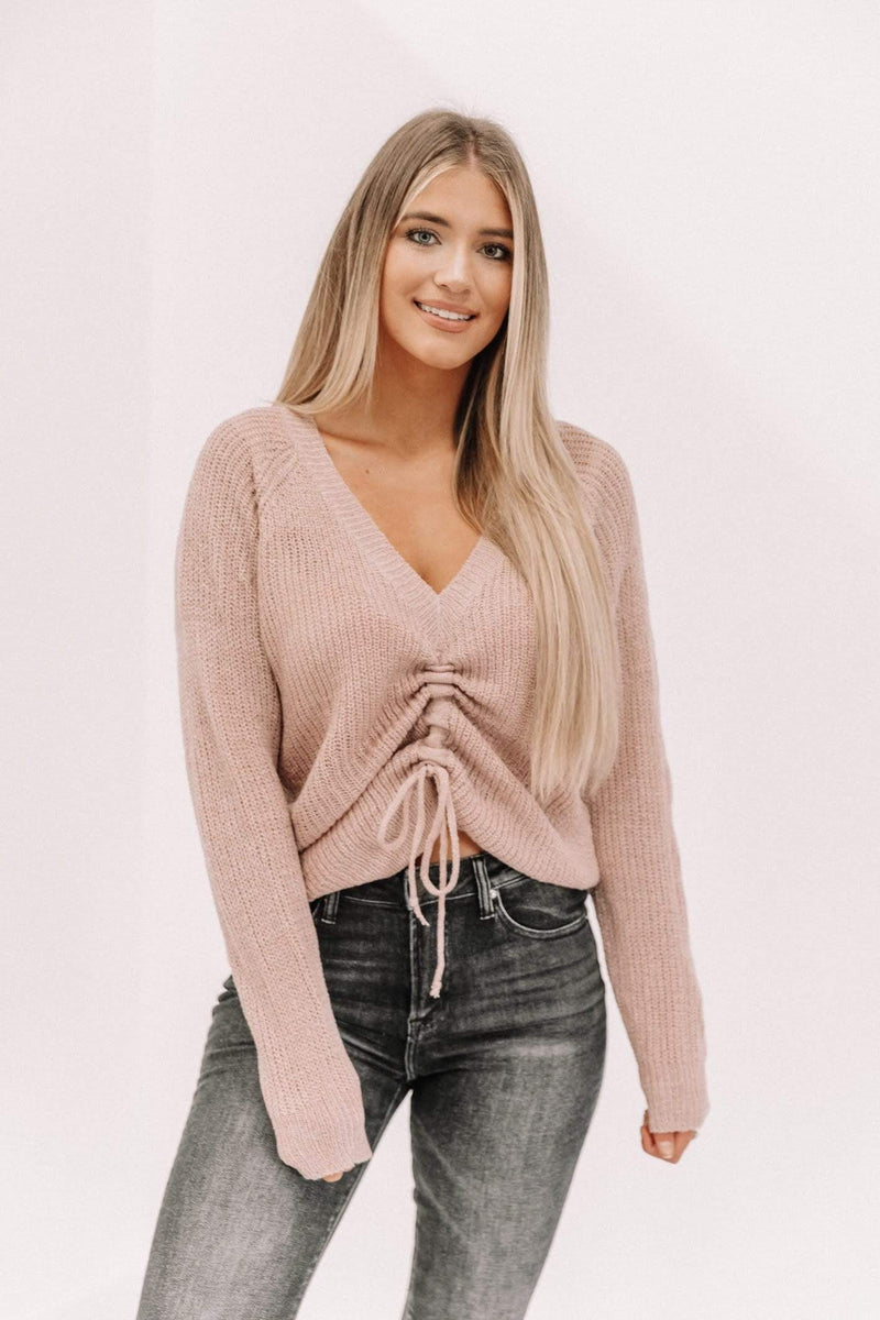 Rose Ruched Sweater Lane 201