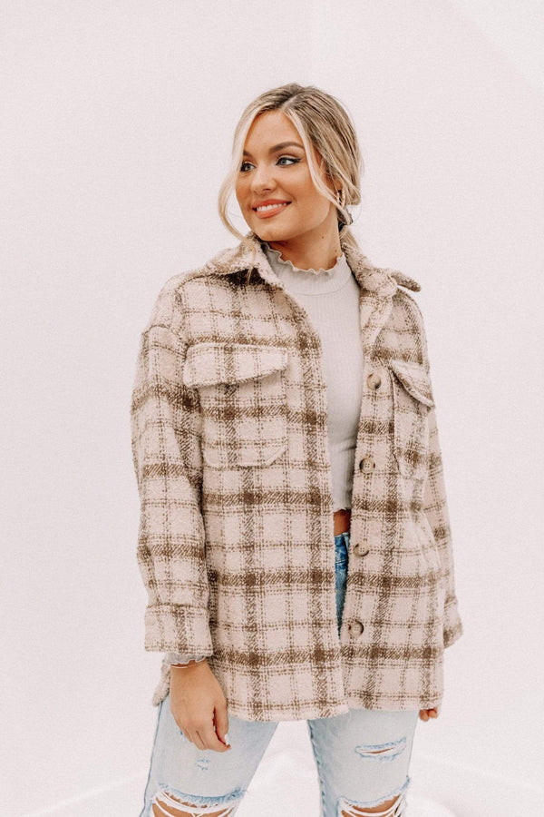 Tara Plaid Shacket Lane 201