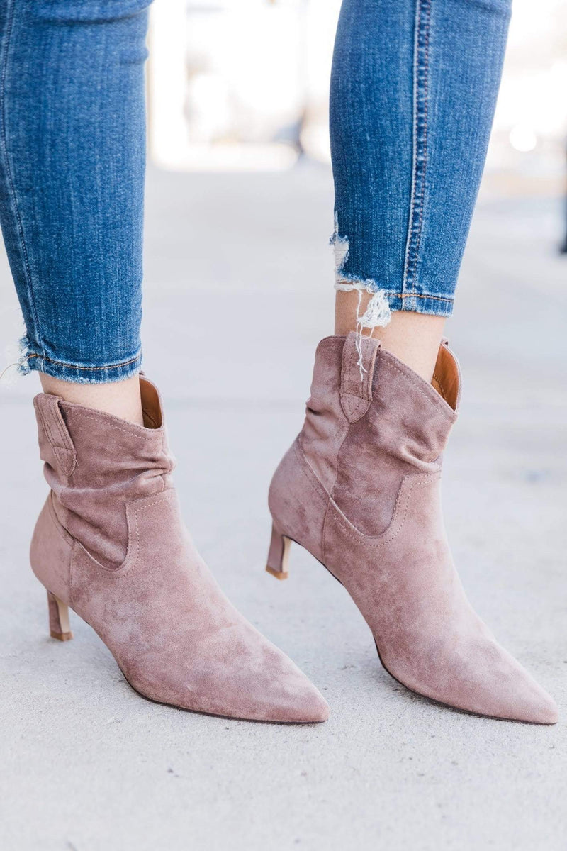 Taupe Western Bootie Lane 201