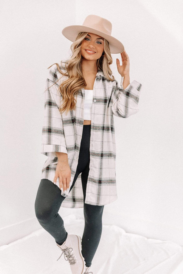 White Plaid Noelle Top Lane 201