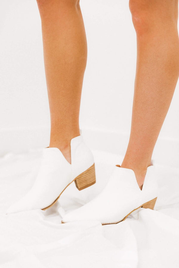 White Roman Bootie Lane 201