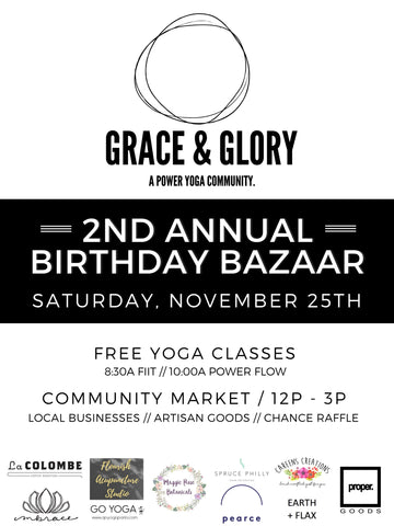 grace & glory yoga 2nd year birthday party