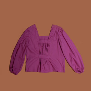 Jolene pleat top in dusty pink