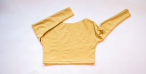 swing sweater top in lemon yellow