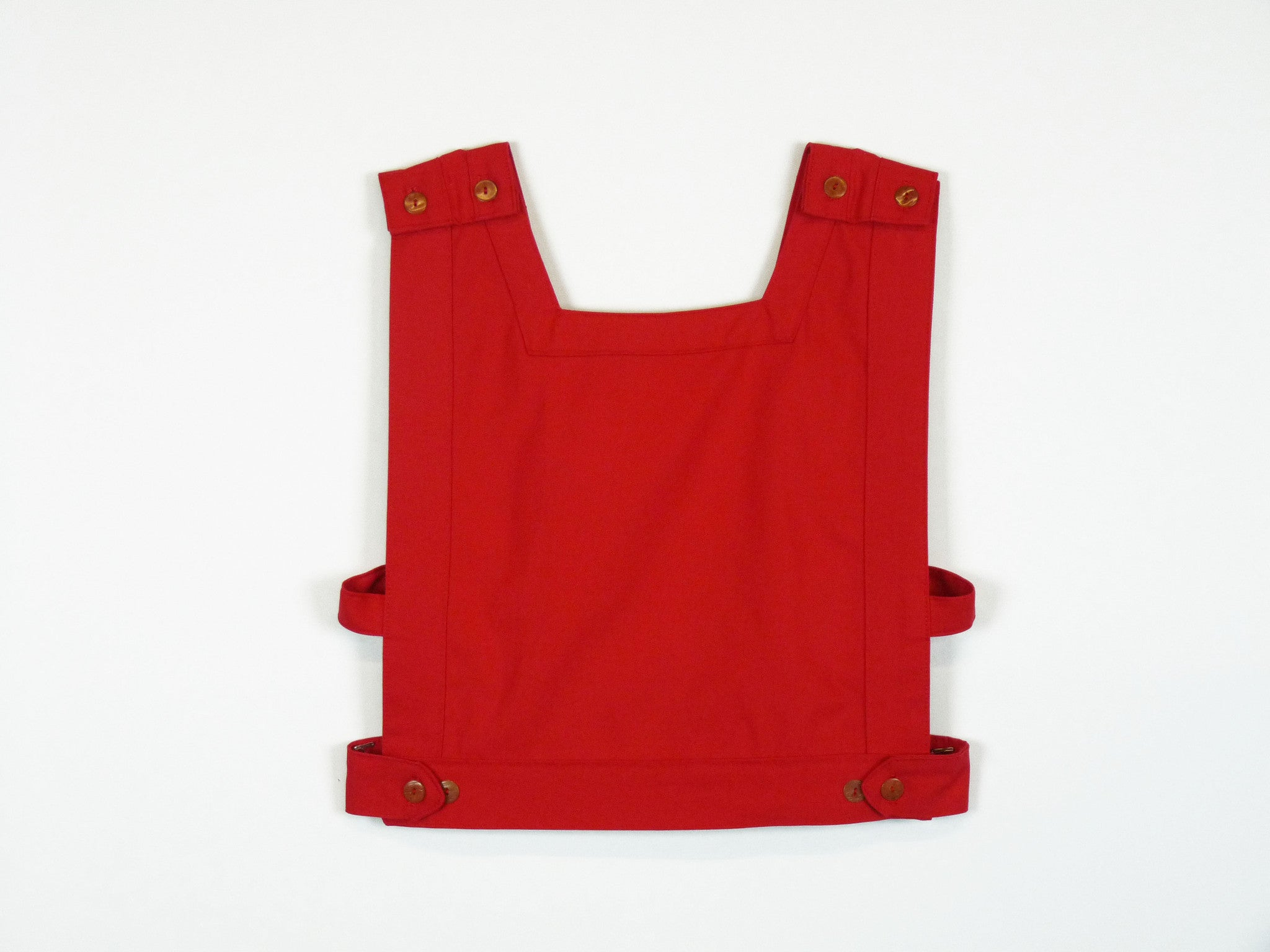triangle top in tomato red