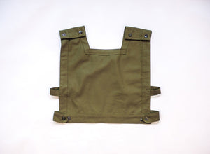 triangle top in olive green