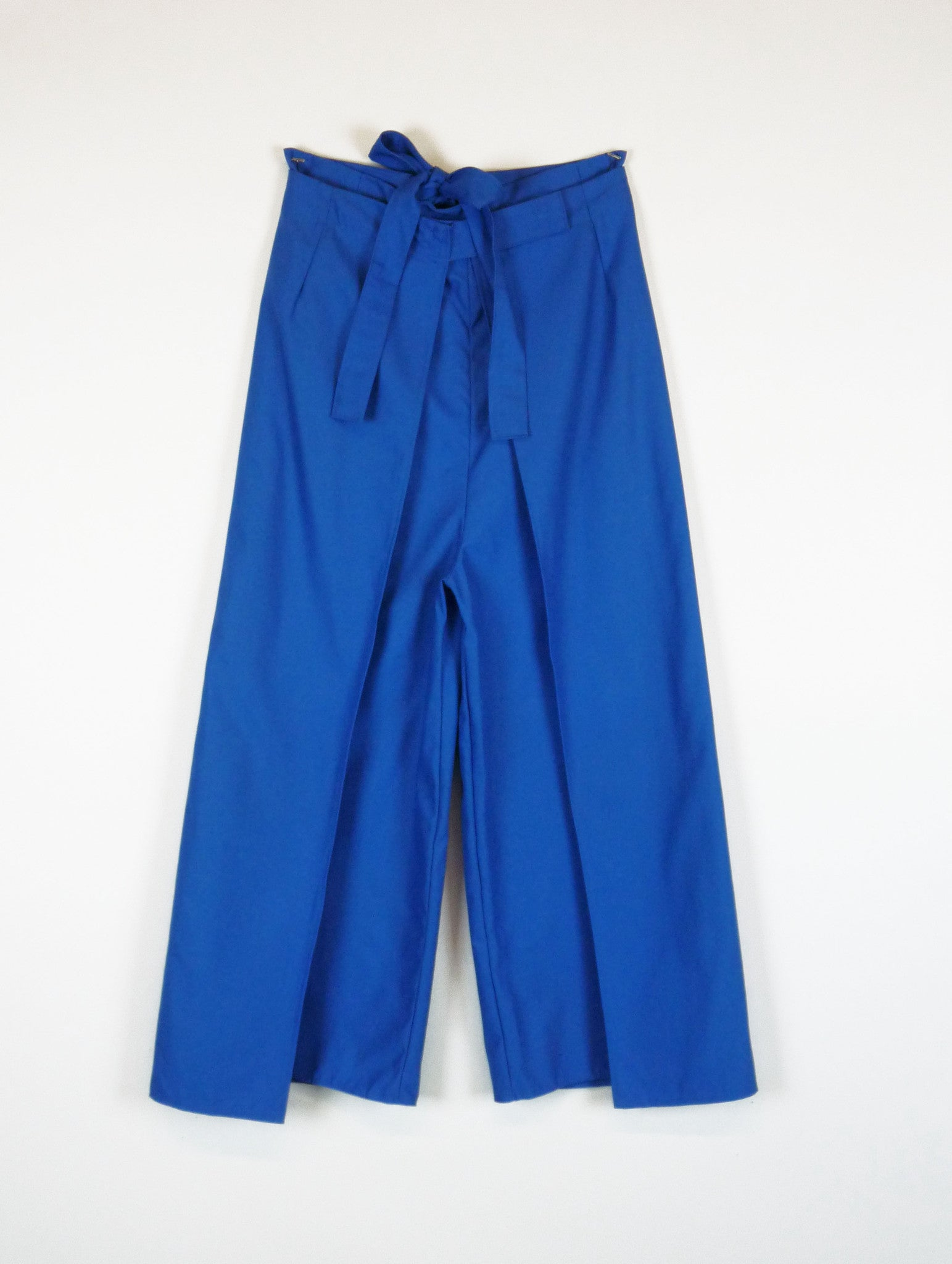 wrap pant in cadet blue