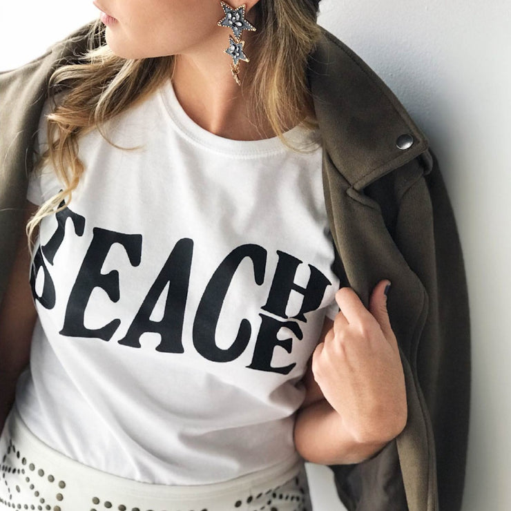 TEACH PEACE WHITE