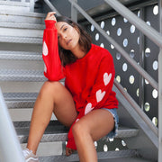PINK HEARTS SWEATSHIRT