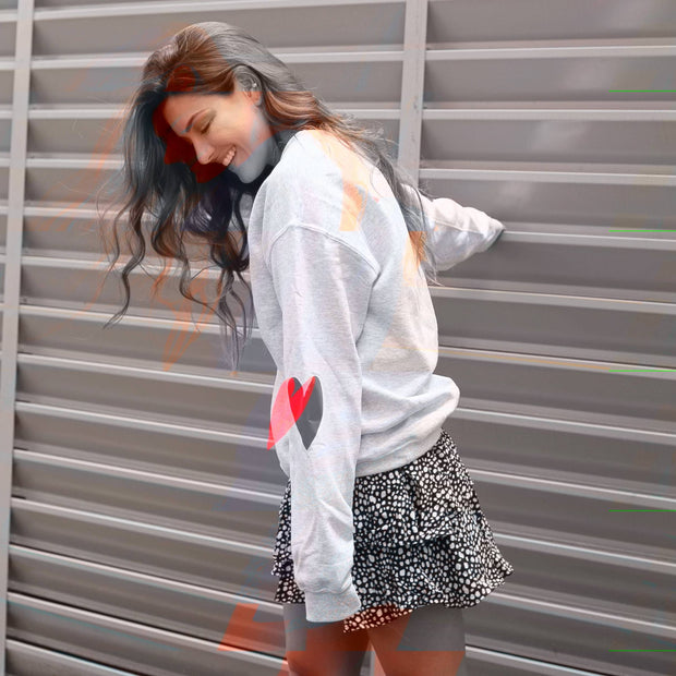 RED HEARTS SWEATSHIRT