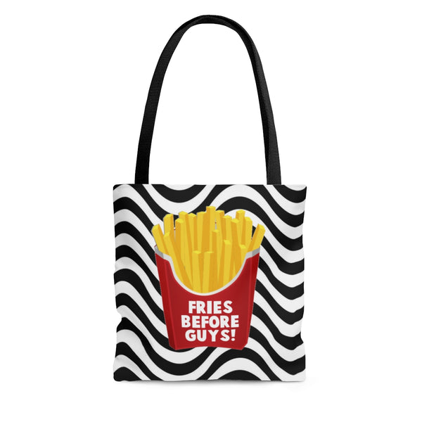 Funny fries before guys best friends girl power tote bag